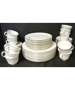 60 Piece Dinner Service For Twelve  * Minton China * Silver Scroll Pattern - $213.74