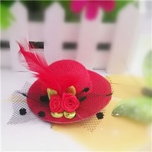 M MISM  Arrival 1 PC Small Feather Floral Hat Hair Clips for Girls Flower Yarn H - $5.69
