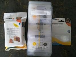 Medela 6oz Breast Milk Storage Bags + Quick Clean Wipes + Extra Membranes - $12.34