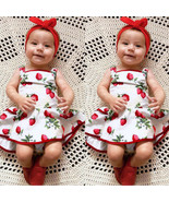 Cute Baby Girls Infant Kids Strawberry Printed Romper Clothes Princess D... - $24.00