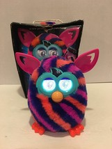Furby Diagonal Stripes Furby Boom Plush Toy Orange, Navy and Pink Stripe... - $34.60