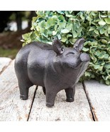 NWT Rustic Farmhouse Cast Iron Metal Antiqued Finish Garden Piglet Statue - $14.46