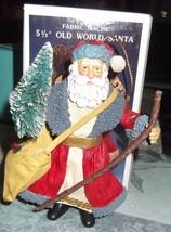 Kurt Adler Fabric Mache Santa Ornament  - $19.95