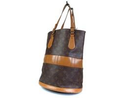 Authentic Louis Vuitton Vintage Bucket Monogram Tote Bag Shoulder Bag LB16102L - $279.00