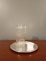 Vintage Glass White Top Refrigerator Pitcher w/ leaves & fruit - Made in... - $28.66