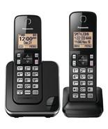 Panasonic KX-TGC352B Expandable Cordless Phone with Amber Backlit Display Opened - $24.97