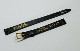 Girard Perregaux Vintage Black Genuine Alligator Watch Band Strap 2048-8... - $50.00