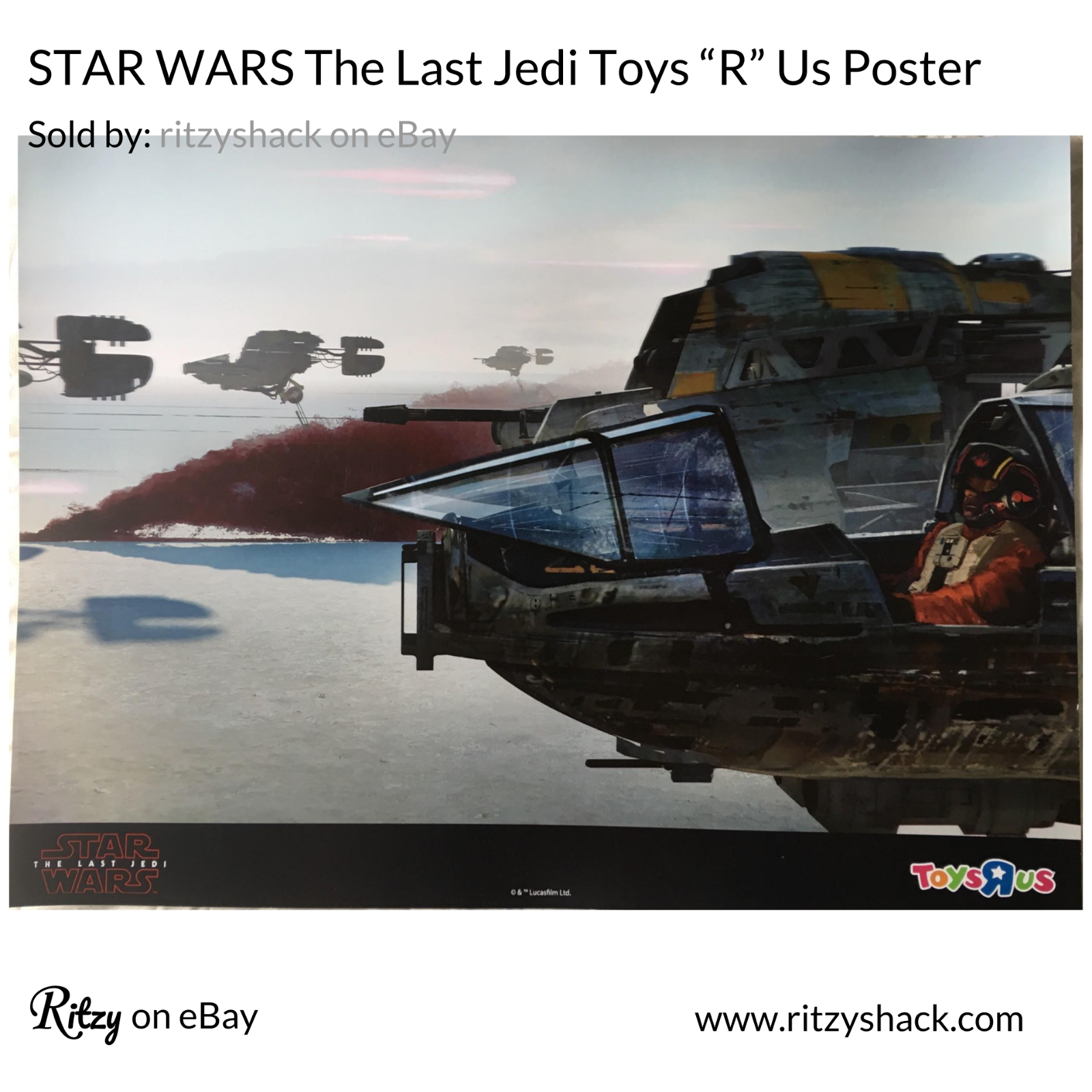 "The Last Jedi 18/"" X 24/"" NEW TRU STAR WARS TOYS R US EXCLUSIVE PROMO POSTER"