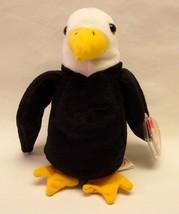 "TY Beanie Baby BALDY THE BALD EAGLE 6"" Stuffed Animal 1996 NEW - $15.35"