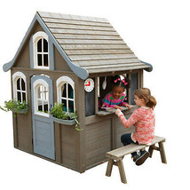 Outdoor Playhouse For Kids Toddlers Pretend Play House Back Yard Fun Boy... - $655.91