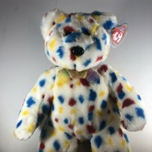 Ty Beanie Baby TY 2k Confetti Bear w/Tag Plush Toy RARE PE Pellets RETIRED - $29.69