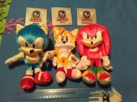 Sega Sonic the Hedgehog 25th Anniversary classic plush toy lot Tomy retro - $175.00