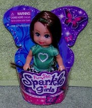 """Funville Sparkle Girlz with Green Shirt with Heart 4.5""""H Mini Doll New - $5.88"""
