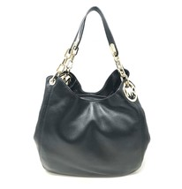 Michael Kors Fulton 30H3GFTE3L Black Leather Ladies Tote - $289.00