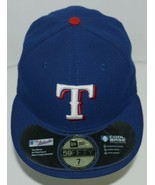 New Era CA40289 Texas Rangers Authentic On Field MLB Fitted Cap Blue Size 7 - $34.99