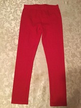 Girls-Size 7/8-med.-Place leggings/stretch pants-red Valentine's Day - $9.99