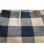 Blue and White Plaid Fabric  2 yards  45 inches wide - $9.95