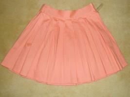 Alice + Olivia Pleated Peach Mini Skirt Size 4; 8 MSRP: $275.00  - $79.99