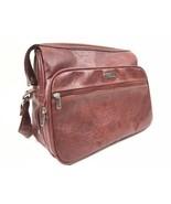 Vintage Samsonite Silhouette 2 Carry On Boarding Bag Red Maroon Leather ... - $49.00