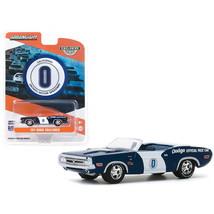 1971 Dodge Challenger Convertible Official Pace Car #0 Blue and White Ontario... - $16.79