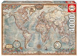 4,000 Piece Puzzle - The World Map - $59.26