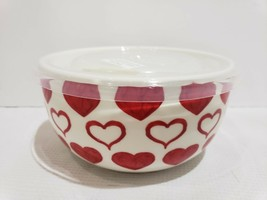 Maxcera Valentines Day Red Hearts Microwavable Bowl With Lid - $26.99