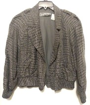 Diane Gilman Womens Basic Jacket  Petites Gray Multicolored Medium  - $24.74