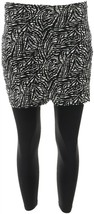 Legacy Legwear Capri Length Fitted Skirted Leggings B/W Abstract XS NEW ... - $22.75
