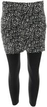 Legacy Legwear Capri Length Fitted Skirted Leggings B/W Abstract XS NEW ... - $22.75