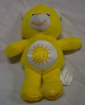 "Care Bears MINI YELLOW FUNSHINE BEAR 4"" Plush STUFFED ANIMAL - $14.85"