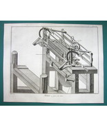 1763 DIDEROT PRINT - Stocking Frame Knitting Machine Expanded View no. 7 - $19.80