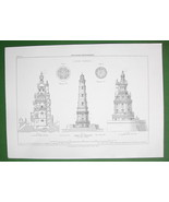 ARCHITECTURE PRINT : Lighthouse at Cordouan France - $20.25