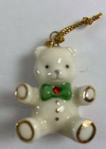 Lenox Miniature Jeweled Christmas Ornament For Family Advent Tree TEDDY ... - $14.84