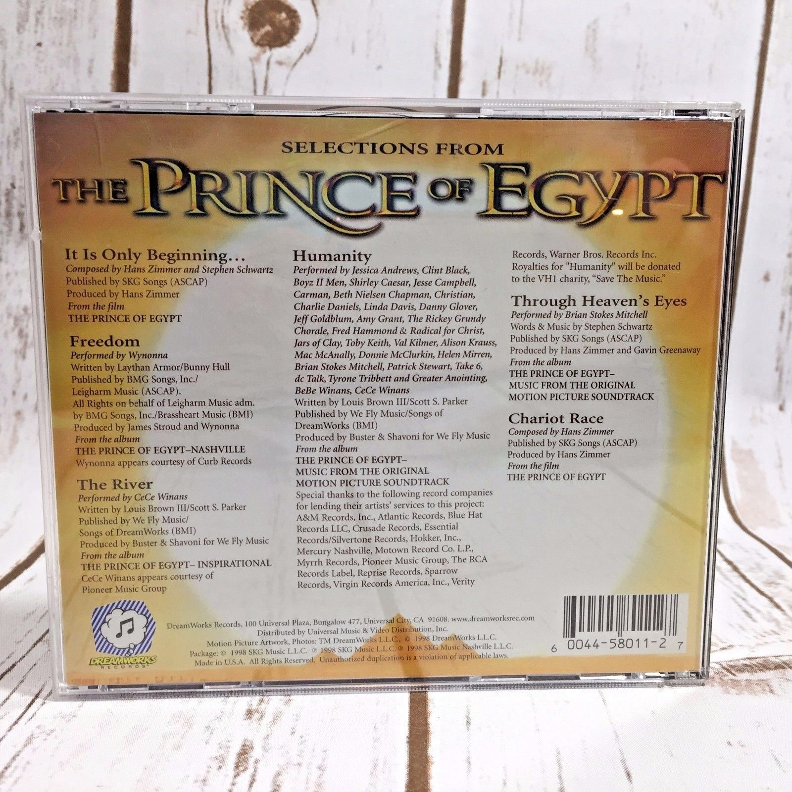 The Prince of Egypt Collectors Edition Music CD Soundtrack Dreamworks Album