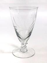 "Fostoria WHEAT Juice Glass Etched Wheat Spray Vintage 4-5/8"" EUC - $7.83"