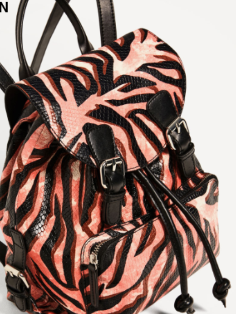 edca3498d9d Zara Rare Genuine Leather Printed Backpack and 50 similar items