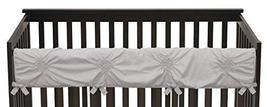 Solid Color Grey Shabby Chic Long Front Crib Rail Guard Baby Teething Co... - $32.94