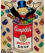 Alec Monopoly oil Painting on Canvas graffiti art wall decor Money Soup ... - $21.77+