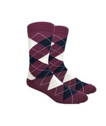 Urban-Peacock - Men's Dress, Trouser & Groomsmen Socks - Maroon Argyle -... - $29.95