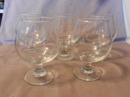 """Set of 4 Vintage Brandy Snifters, Clear Glass 5"""" Tall (M) - $39.59"""
