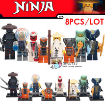 8pcs/set Ninjago Shark Army Serpentine Snappa Garmadon Master Wu Minifigures Toy - $14.50