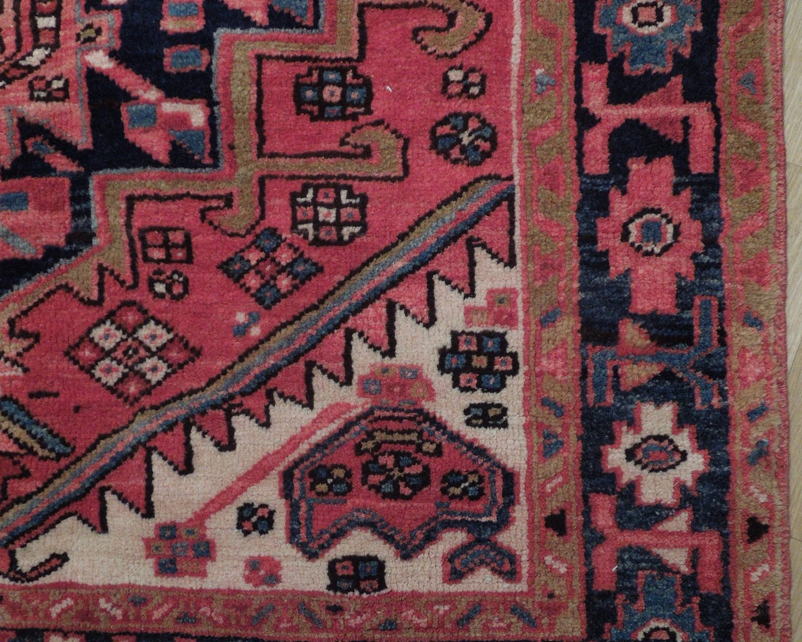 Tribal Inspired Olde Runner Persian Hand-Knotted 2' x 11' Red Heriz Wool Rug image 3