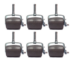 SET OF (6) WIDE BED FRAME LOCK CASTER WHEELS WITH SOCKET INSERTS - $17.77