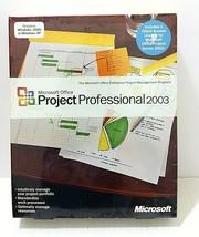 Microsoft Office Project Professional 2003 New Sealed Nib Full Retail Version - $96.26