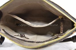 NWT Brahmin Mini Duxbury Shoulder Bag in Tortoise Seville Brown Embossed Leather image 6