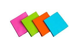 Party Essentials 2-Ply Paper Cocktail Beverage Napkins, Assorted Neon Br... - $7.60