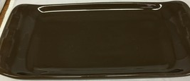 Longaberger Pottery Corn On The Cob Tray Cracker Olive Tray  Brown - $17.64