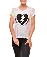 Wildfox Women's Love Roses No9 Cotton WCJ179 71W T-Shirt Multi Size XS - $76.53