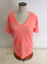NEW NWT Emma & Sam LF Stores Distressed Cotton Blend Salmon T Shirt $68 ... - $12.00