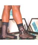 Used Black Missed Matched Research & Development Sheer Socks SMPS-0105 /... - $6.00